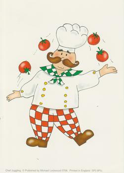 PACK OF 5 ~~~ Chef Juggling Tomatoes - Michael Lockwood - 4