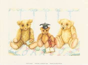 PACK OF 5 *** Three Bears - Graduation and Study Bears - by Michael Lockwood 7.5