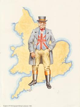 PACK OF 5 *** English Man -- Print by Faulkiner -- 8