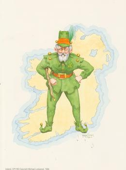 PACK OF 5 *** Irish Man -- CP1195 -- Print by Faulkiner -- 8