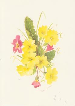 PACK OF 5 *** Yellow Pink Summer Flowers by Mary Brown 7