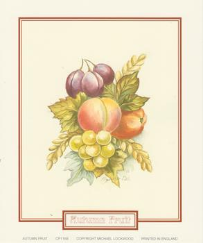 PACK OF 5 *** Autumn Fruit  ~ CP1167 ~ A Elizabeth de Lisle Print - 5
