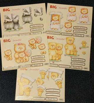 Pack of 5 - BIG TEDDY PACK -  590 582 587 584 580 . *