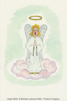 Pack of 5 --- Card Topper 10cm x 15cm ANGEL PRINT by Michael Loc . -