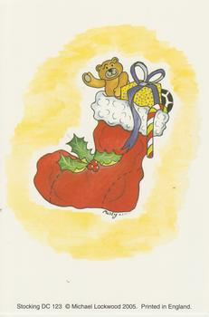 pack of 5 ~~~ Card Topper 10cm x 15cm CHRISTMAS STOCKING PRINT by Michael Lockwood 123 -Jacksons mail Order