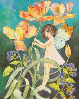 Flower Fairies - Standing on a Stem - **A Jacky Fenton Print ** B2446 ~~ 10