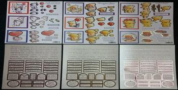 Pack of 6 Valentine / Birthday Die Cut Sheets with Sentiments and Captions 733 734 728 550 2x552 Jacksons Mail Order