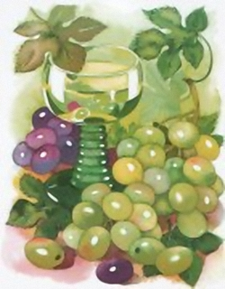 Wine and grapes B8 Main Gallery Cornelia Ellinger