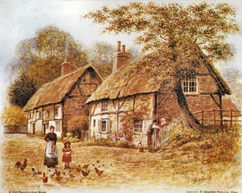 Vintage Cottage Scene - 10