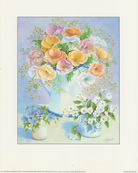 Flowers in Jug by Tricia Hardwick Print size 8