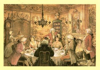 The Dinner Party - 10 x 8 (inc border) . anton pieck