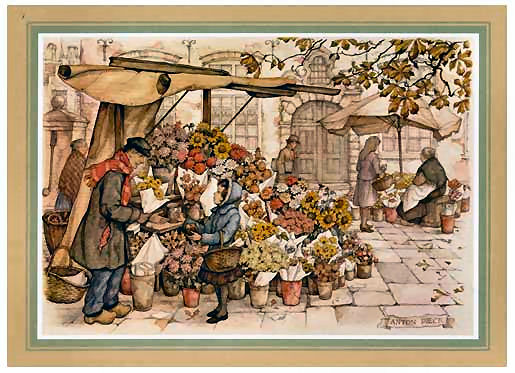 The Flower Stall F2 Pack of Five Prints Main Gallery Anton Pieck
