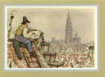 Painter on the Roof F5 Main Gallery Anton Pieck