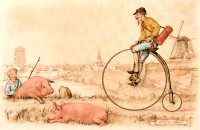 Pigs and the Penny Farthing F3 Main Gallery Anton Pieck