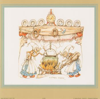 Anton Pieck - Ants Cooking Anton Pieck