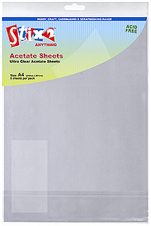 Clear 1x A4 Acetate Sheet £0.28 papertole.co.uk