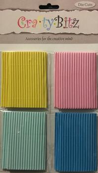 Corrugated Small Pieces of Card - Yellow Pink Blue and Light Blue pp103 . -Jacksons mail Order