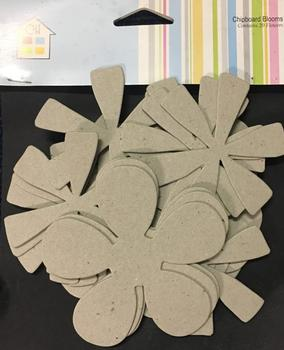 Cardboard - Chipboard Floral Shapes - Blank - by Craft House -Jacksons mail Order