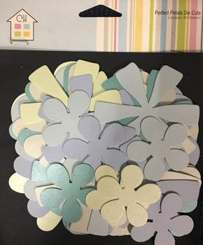 Turquoise Green Lime Coloured Chipboard Floral Shapes - Blank - by Craft House . -Jacksons mail Order