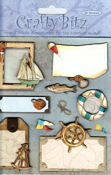8 Sailing Themed Emellishments Bargain Basement *