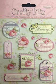 Floral Themed Toppers with Sentiments - Love - Forever - Together - You - Memory - Celebration -Jacksons mail Order