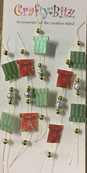 Gifts / Parcel Embellishment with Silver Gold Beads on a Wire . -Jacksons mail Order