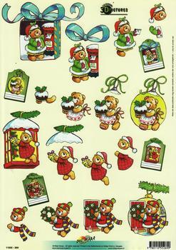 A4 Christmas Bears 11055-269 . *