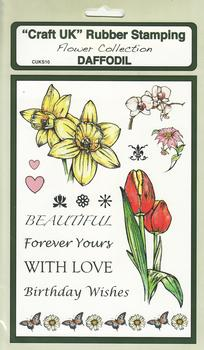Daffodil - Flower Collection Rubber Stamp Sheet Latest Products *