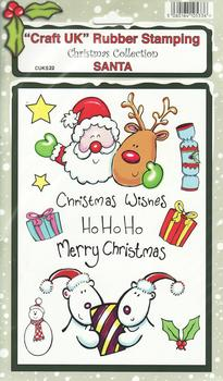 Santa - Christmas Collection Rubber Stamp Sheet . *