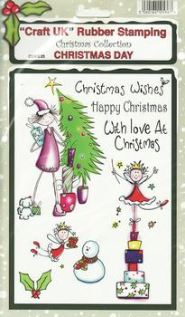 Christmas Day - Christmas Collection Rubber Stamp Sheet . *