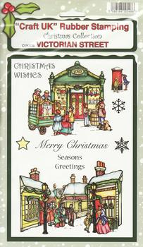 Victorian Street - Christmas Collection Rubber Stamp Sheet . *