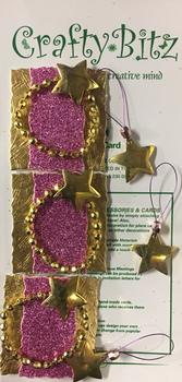 Gold Parcels with Pink Wrapping and Gold Star Toppers from Crafty Bitz -Jacksons mail Order