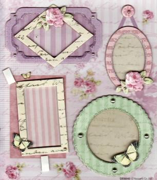 Card Embellishments - Small Frames - Flowers & Butterflies *