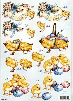 Happy Easter cute chicks*line742 . papertole.co.uk