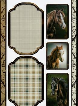 A4 Horse Themed Die Cut Sheet 2274 *