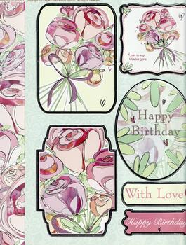 Bouquet of Flowers Diecut Sheet with Backing Card *