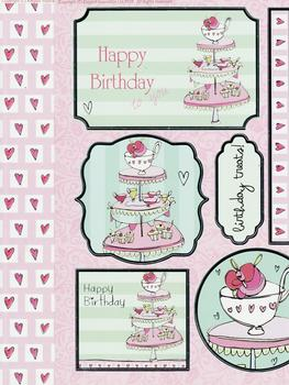 Afternoon Tea Die Cut with Backing Card - A4 *