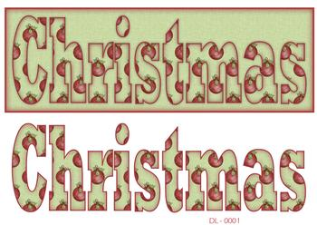 Merry Christmas DL Card Sheet f CHRISTMAS