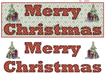 Merry Christmas DL Image - Perfect for Card Making -Jacksons mail Order
