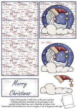 Merry Christmas Moon Easel Sheet . FANTASTIC OFFER!!!
