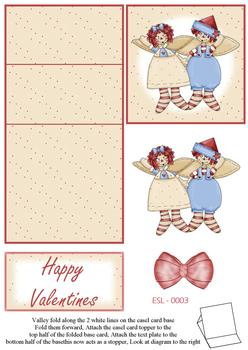 Dolly Love Valentines Easel Sheet W FANTASTIC OFFER!!!