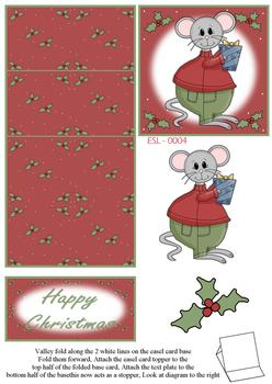 Merry Christmas Doormouse Easel Sheet n papertole.co.uk