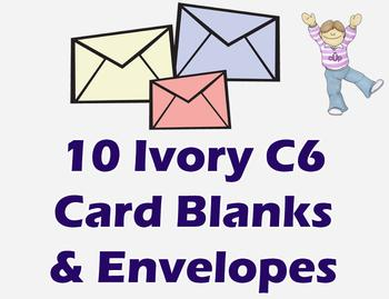 C6 Ivory Cards & Envelopes (10 Pack) *