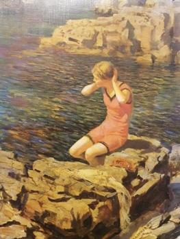 Going For A Swim by Rowland Wheelright ** Selby Prints** 510mm x 730 (JAsp) . -
