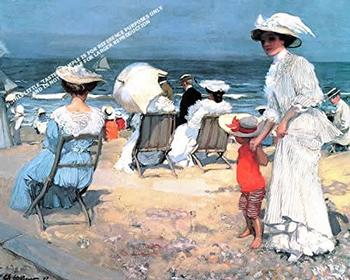 Sur La Plage, 1907 By Charles Hoffbauer *** Selby Prints*** 610 MM  x 445 MM -