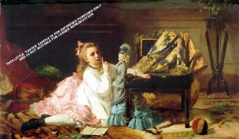 The Lesson by Francois Eugene Cuny *** Selby Prints ***  	520mm x 355mm FANTASTIC OFFER!!