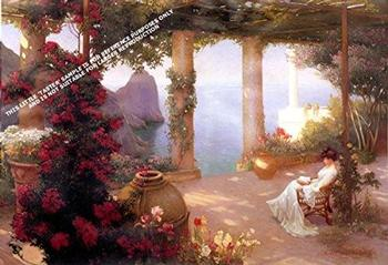 On the Terrace Capri by Karl M. Schuster ** Selby Prints ** 	455mm x 440mm . -