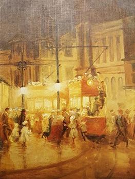 A London Street Scene by W. Ashwood **  Selby Prints ** 485mm x 355mm (JAsp) . -