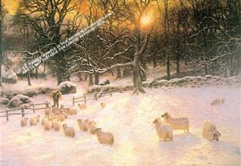 Shortening Winter's Day by Joseph Farquharson *** Selby Prints *** Size in MM: 	810 mm x 580 mm -