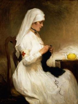 Red Cross Nurse by Gabriel Emile Nicolet *** Selby Prints *** 620 mm x 490 mm -